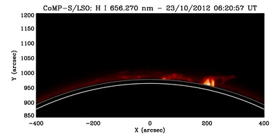 IMAGE: Quiescent prominences, observed by the CoMP-S instrument
